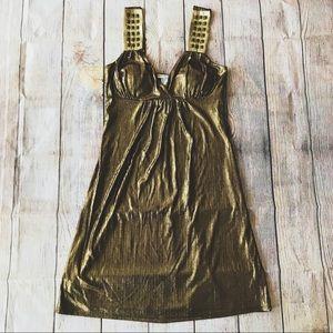 Dark Gold Body Central Cleopatra Dress Halloween